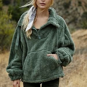 NWT Free People Bug Sky High-Neck Pullover
